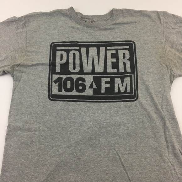 Vintage Power 106 T Shirt Rap Radio Tee Music XL